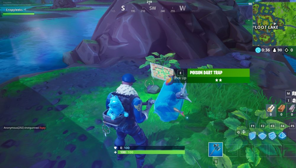 how to get poison dart traps in Fortnite