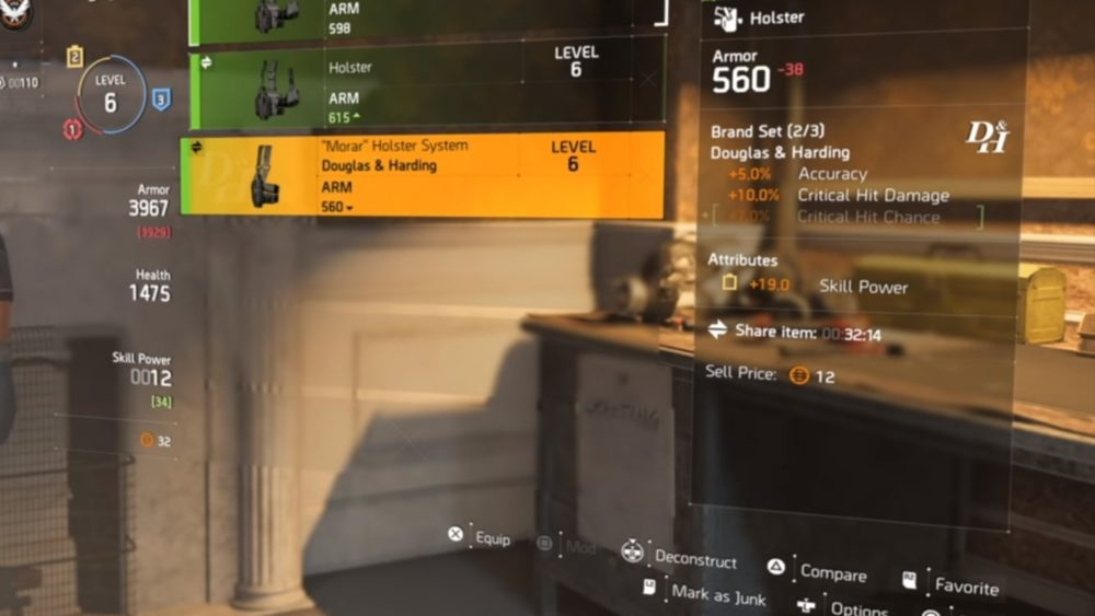 increase skill power in division 2