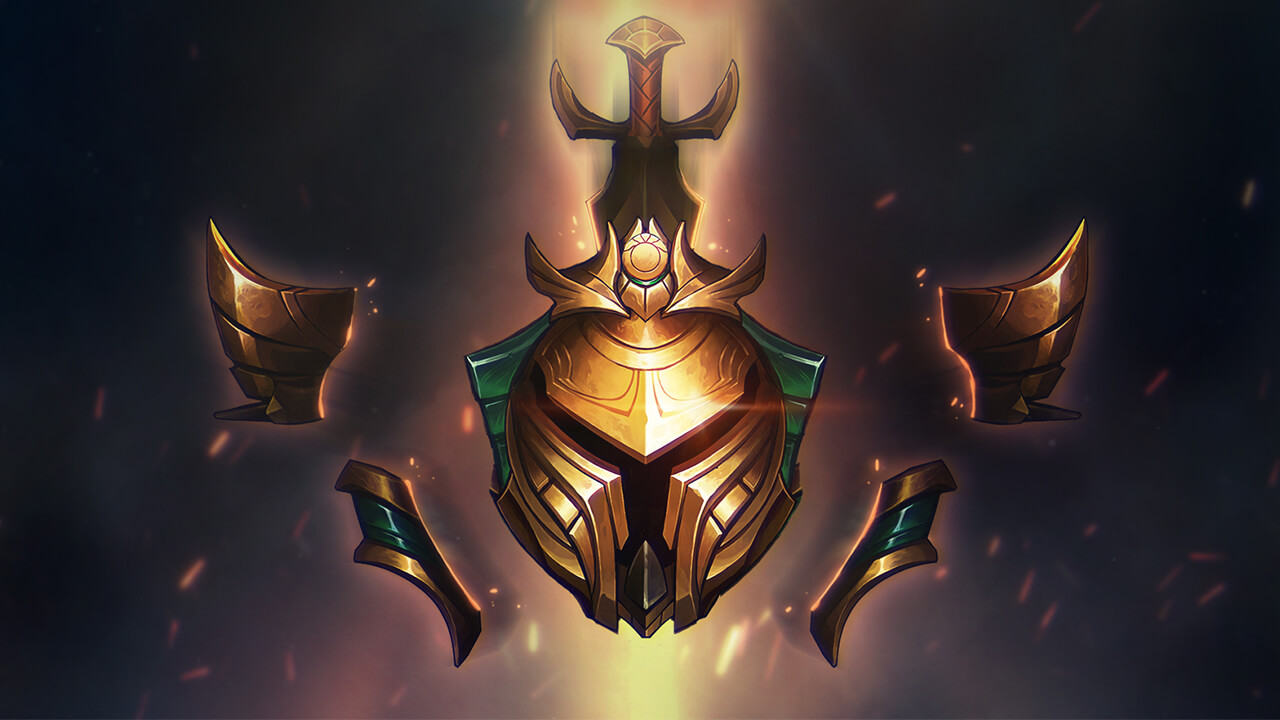 League of Legends' Gold ranked armor