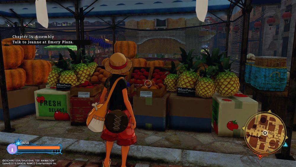 One Piece: World Seeker, Gem Fruit Location