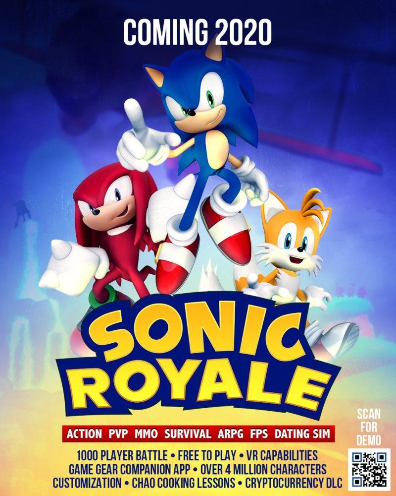 april fool's prank, battle royale, sonic the hedgehog