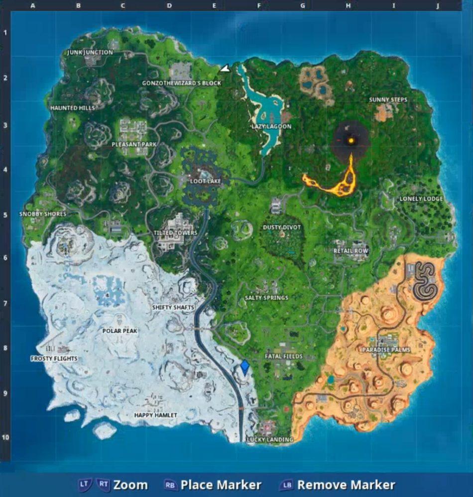 Fortnite Durrr Burger Phone Location Map