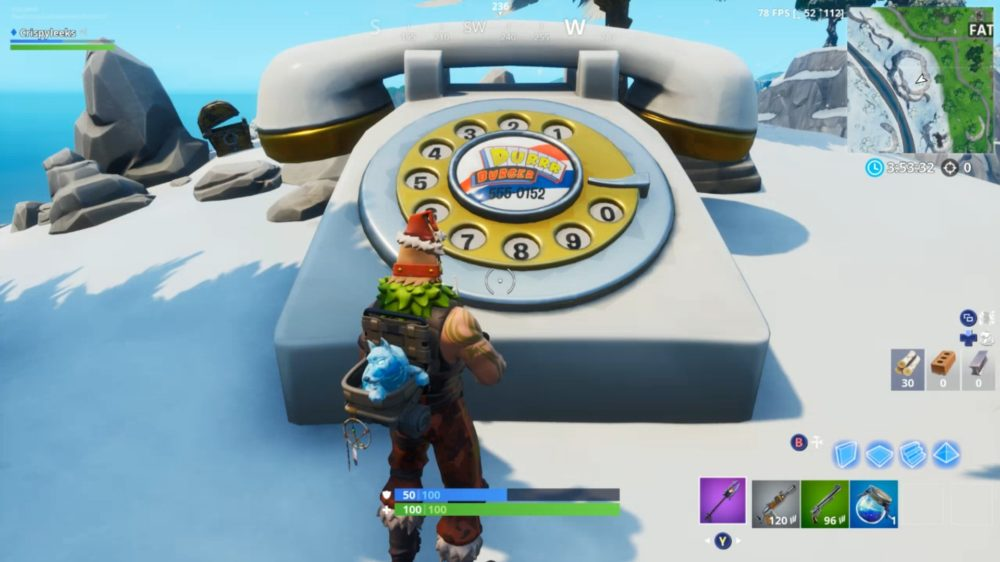Fortnite Durrr Burger and Pizza Pit Big Telephone Locations