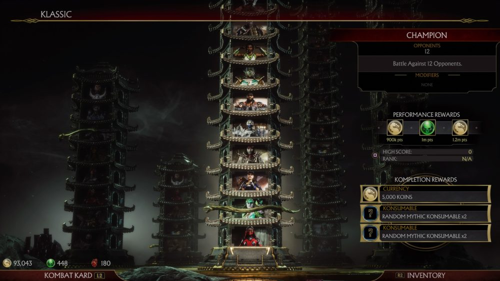 Klassic Towers, Mortal Kombat 11