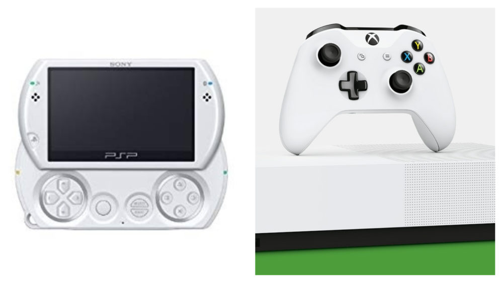 xbox one S all digital, PSP go