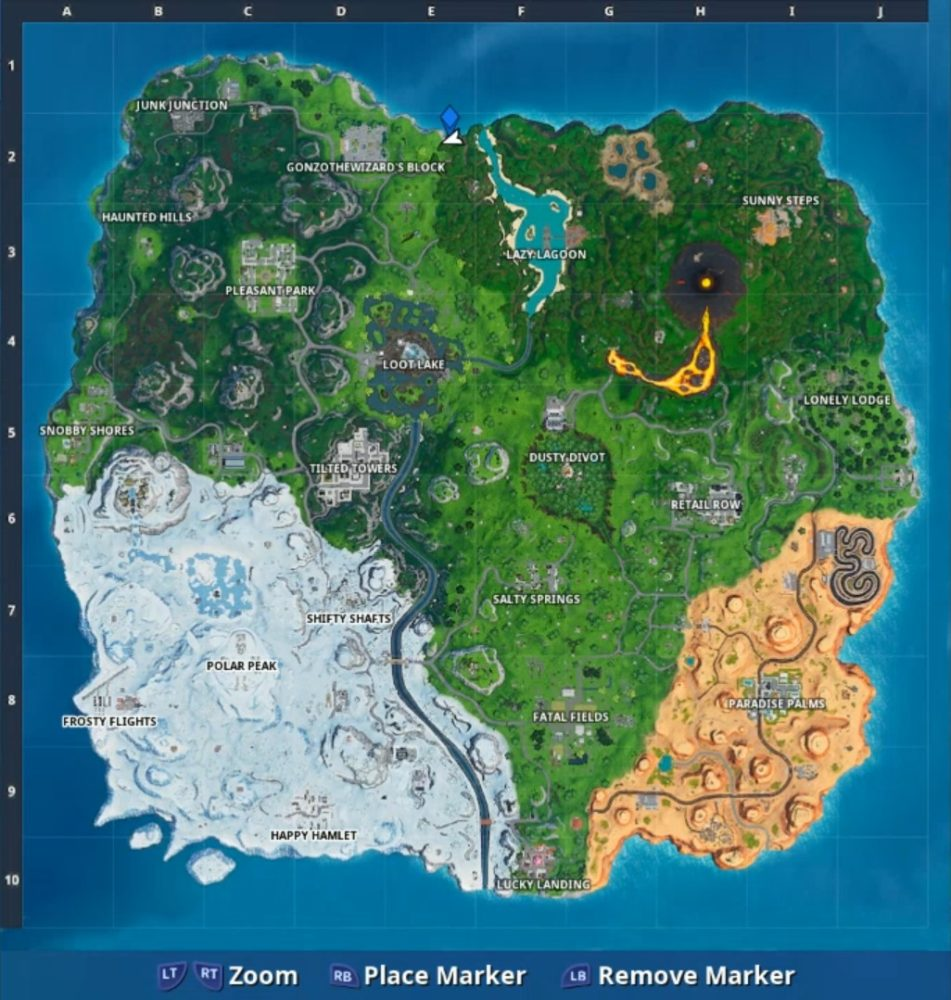 Fortnite Pizza Pit Phone Location Map