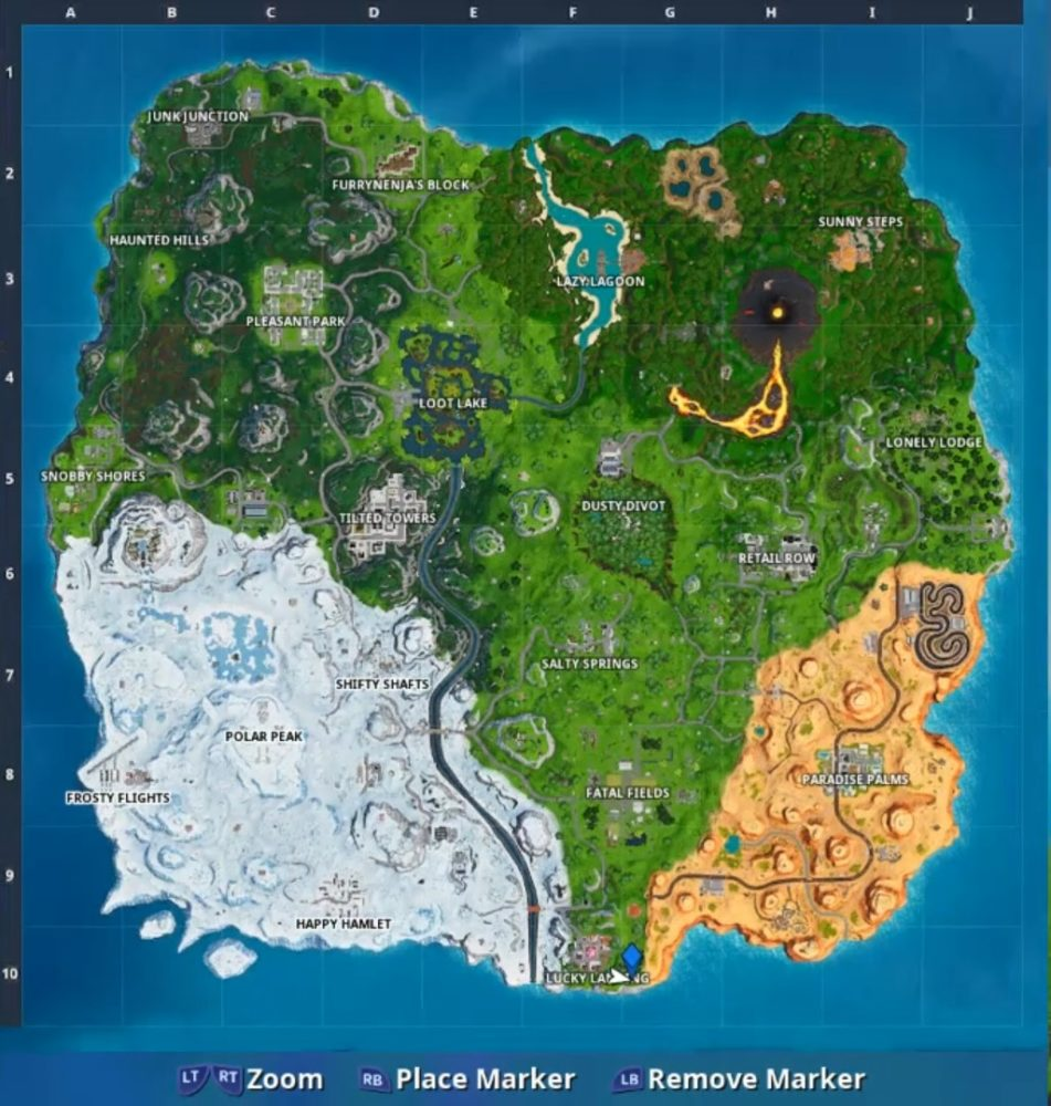 where to visit stone pig in fortnite