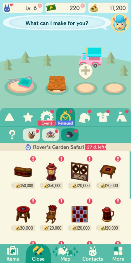how to use reissue material in animal crossing pocket camp