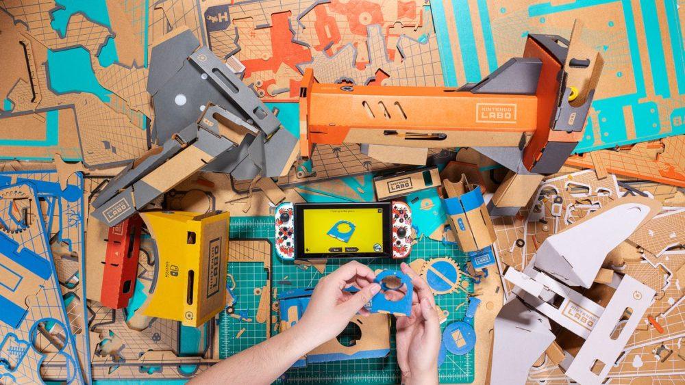 nintendo labo vr kit, blaster, switch, review, impressions, cardboard