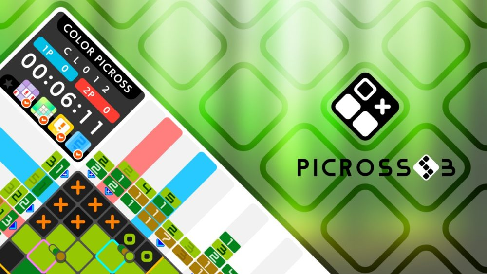 Picross S3, a relaxing puzzle game