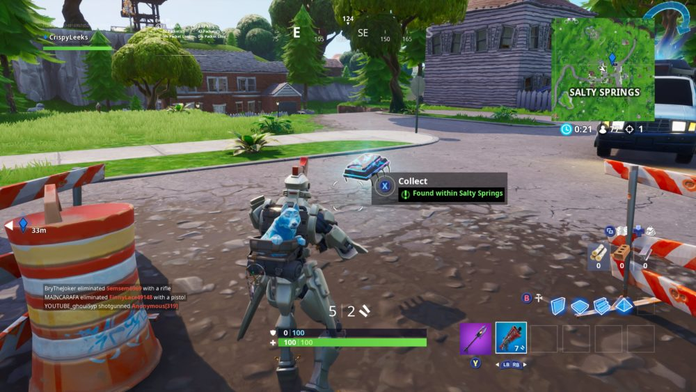 Fortbyte 72 location, Salty Springs, fortnite