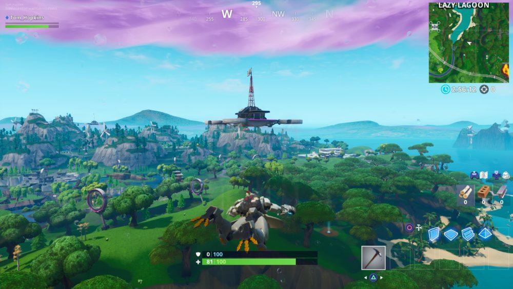 Fortnite, sky platforms