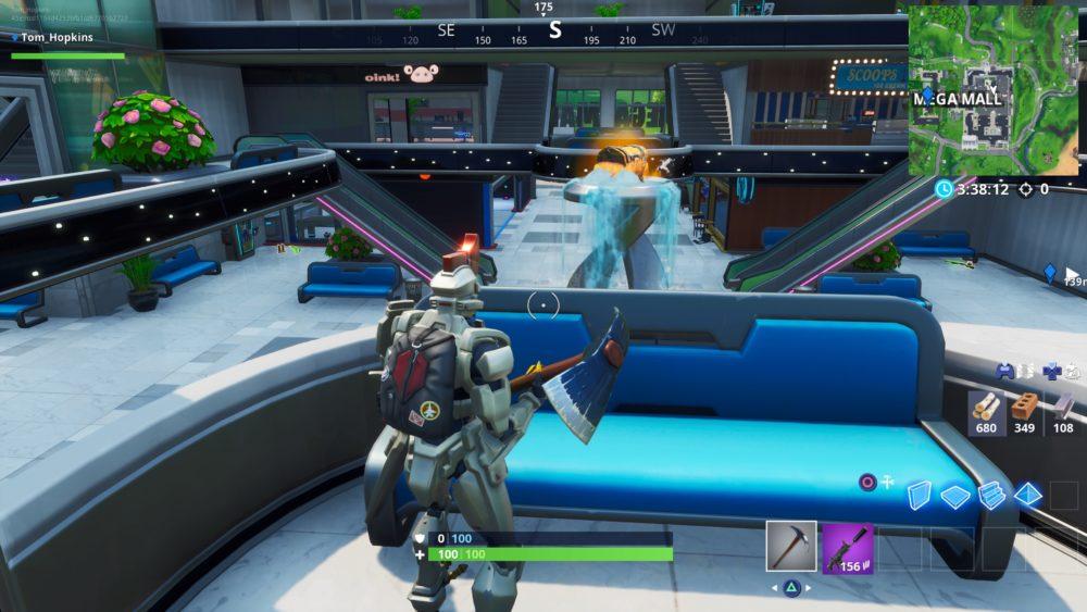 Fortnite, mega mall, chest spawn locations