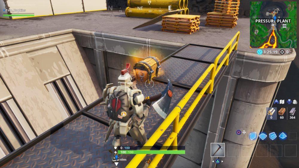Fortnite, pressure plant, chest spawn locations