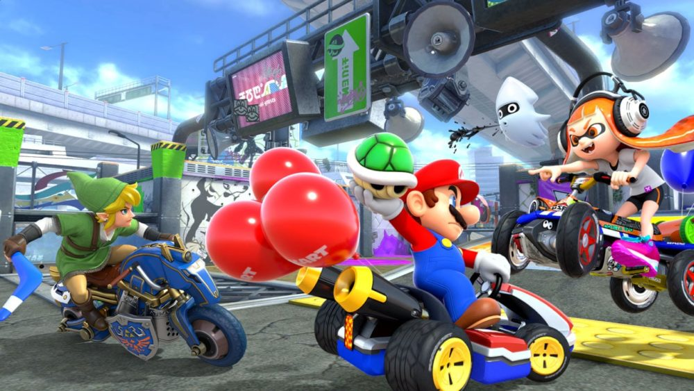 mario kart 8 deluxe, best racing games on switch
