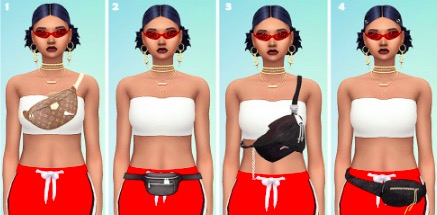 maxis match, custom content, fanny packs, sims 4