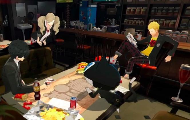 persona 5, coffee shop