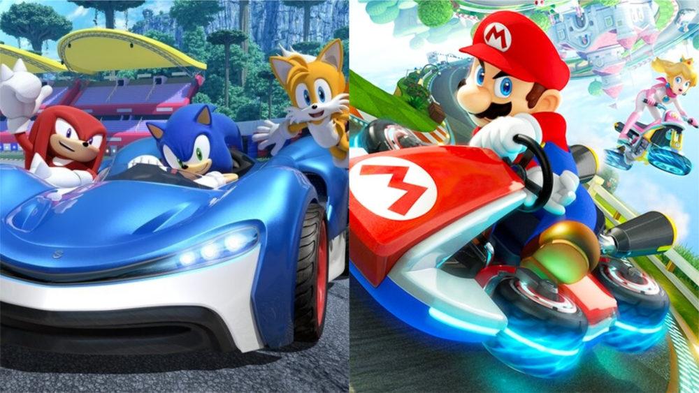 team sonic racing, mario kart