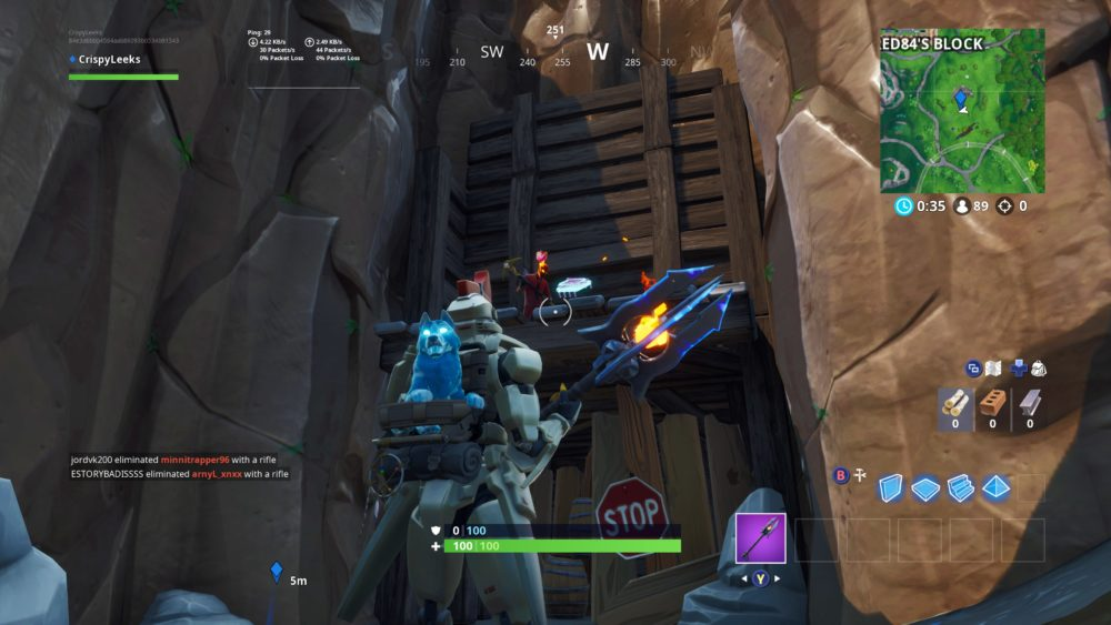 Where to Cuddle Up in Rocky Umbrella in Fortnite Fortbyte 7