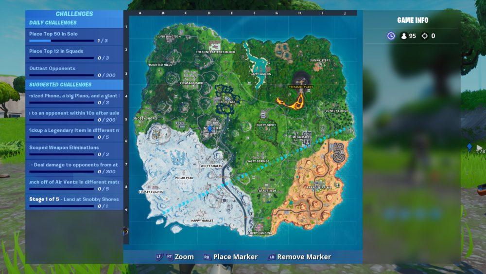fortbyte 41 map location in Fortnite, durrrburger restaurant location