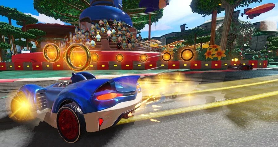 team sonic racing, how to, slingshot, yellow trail
