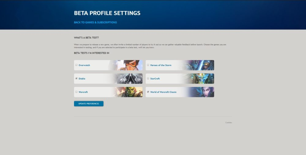 world of warcraft classic beta opt-in