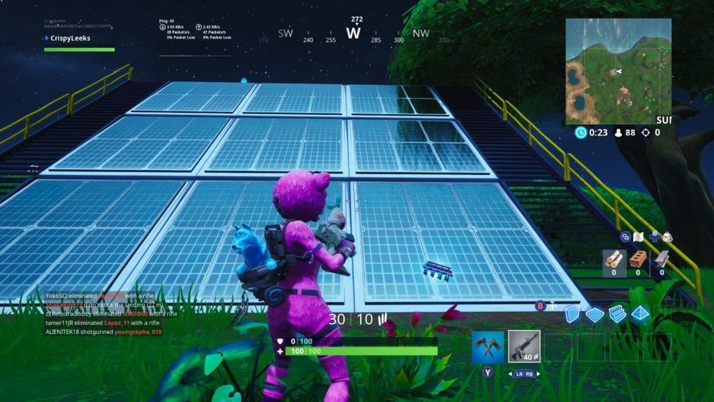 Fortnite solar panel array