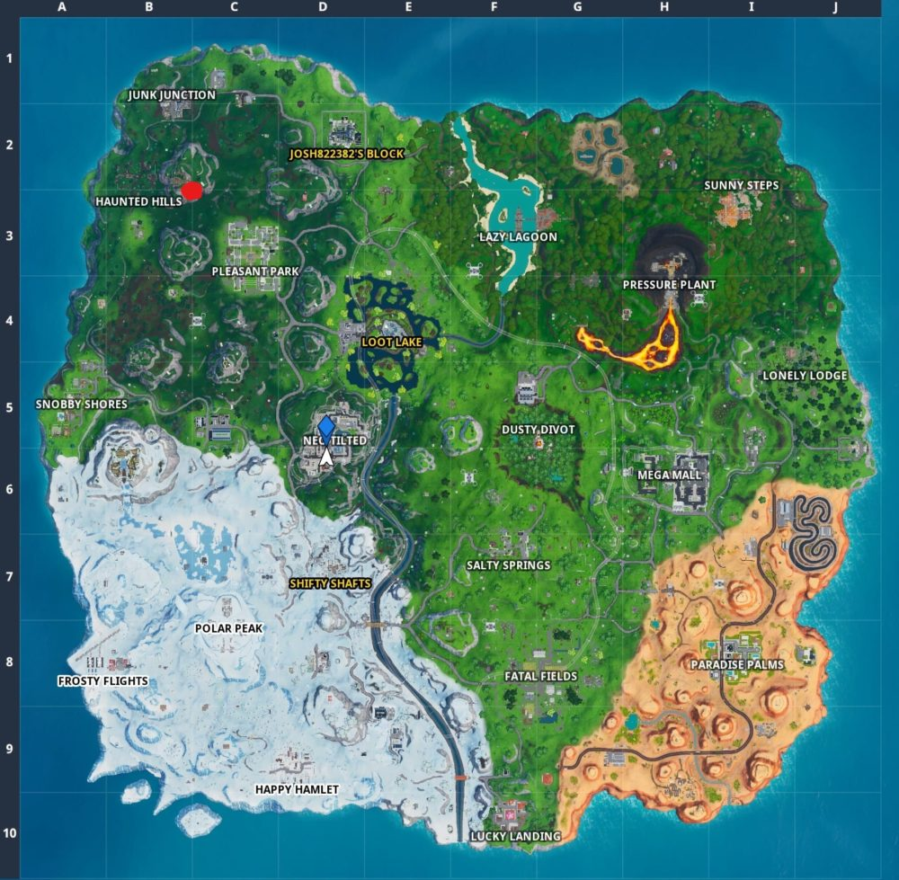 Fortnite week 5 secret battle star location