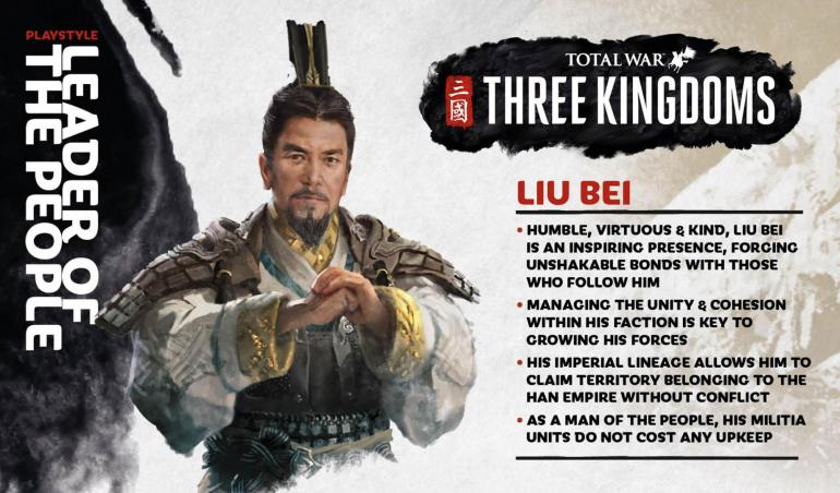 how to play liu bei in total war three kingdoms