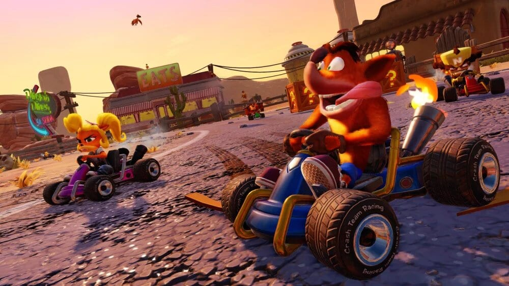 crash team racing, start boost