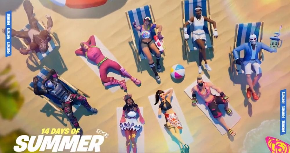 fortnite 14 days of summer beach parties locations