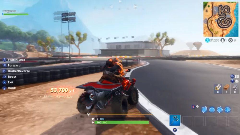 fortnite desert race track