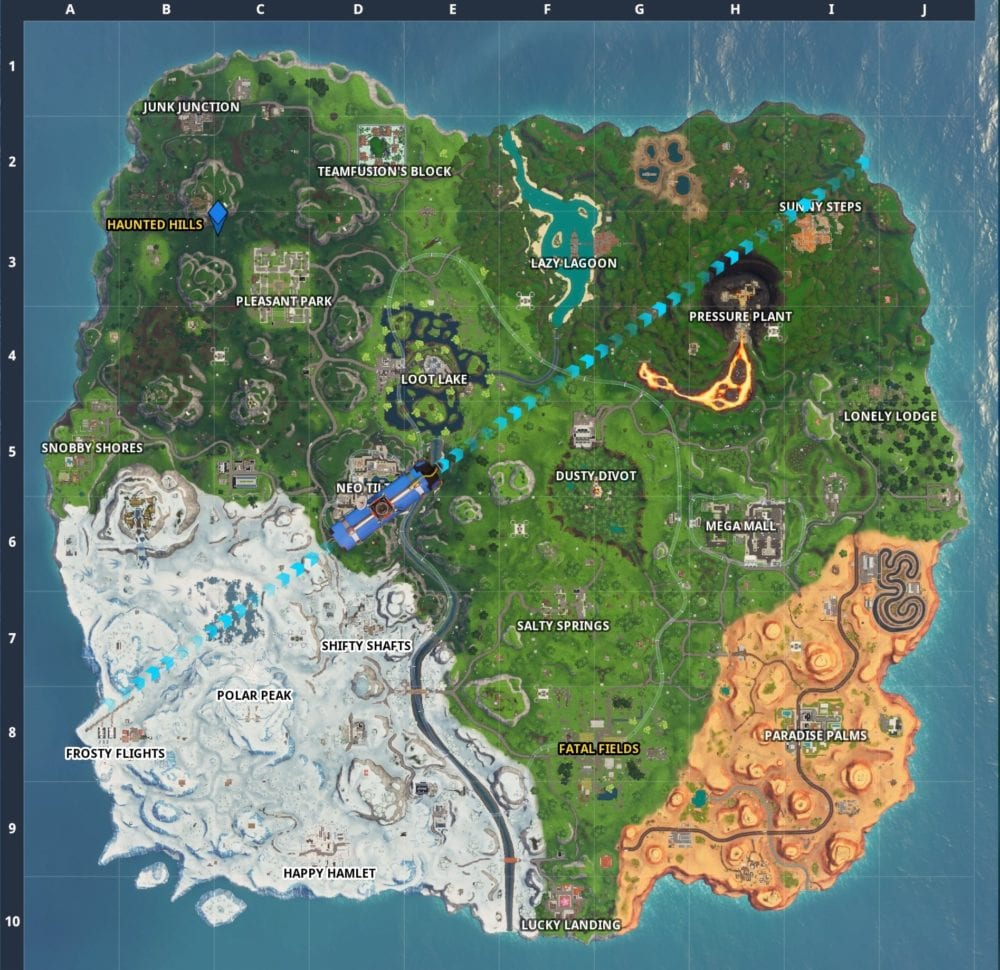 fortnite fortbyte 30 location