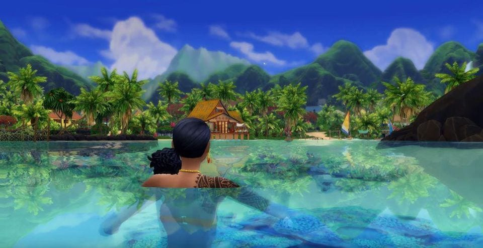 how to become a mermaid in sims 4 island living
