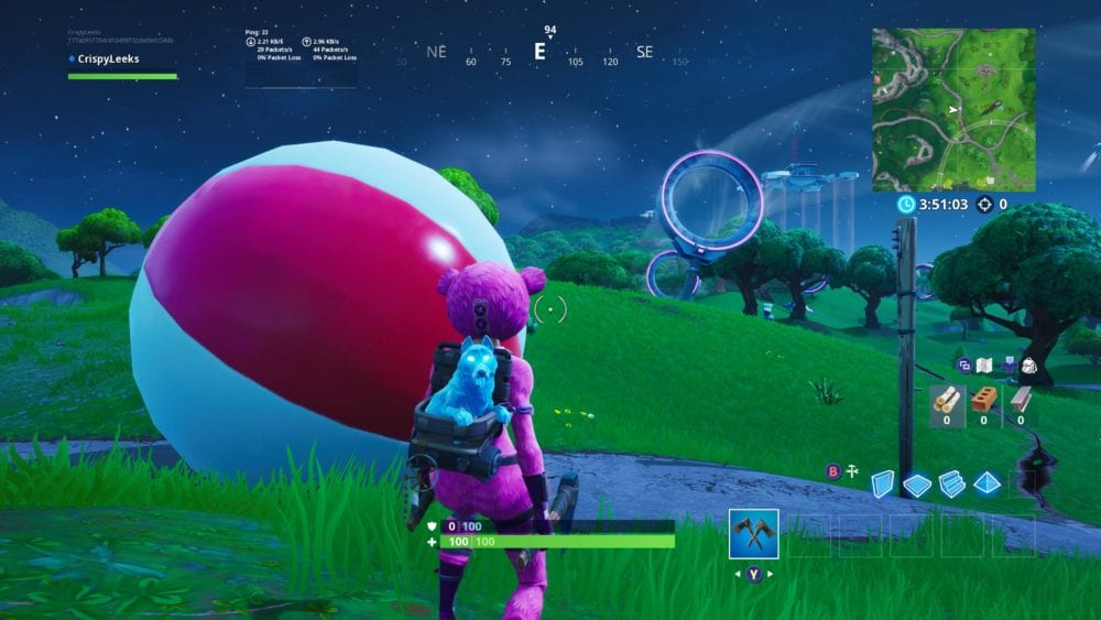 how to bounce giant beach balls in Fortnite