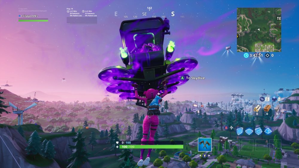 how to visit different wind turbines fast in fortnite