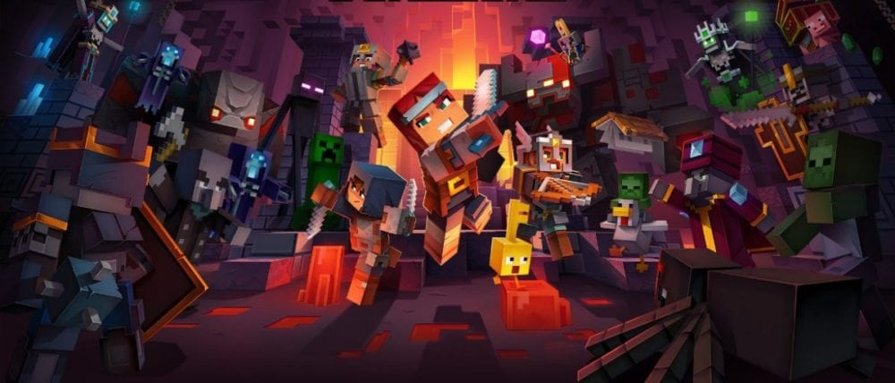is minecraft dungeons coming to ps4