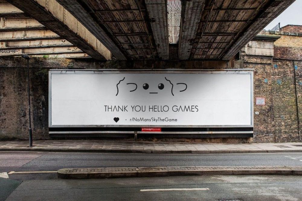 No Man's Sky, Billboard GoFundMe Campaign
