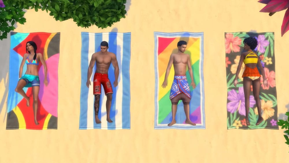 how to tan and not get sunburnt in sims 4 island living