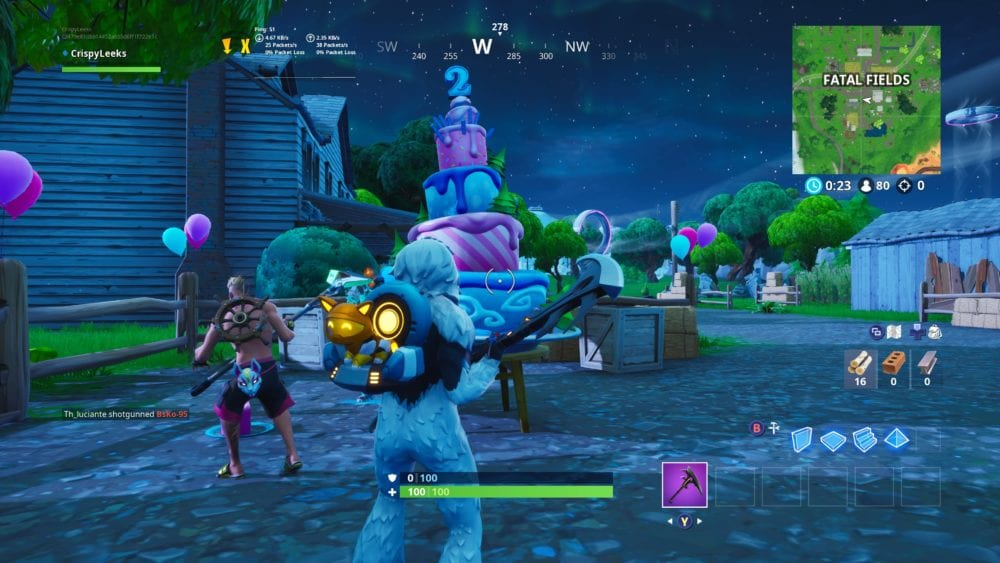 Wondrous Fortnite Birthday Cake Locations Where To Dance In Front Of Personalised Birthday Cards Paralily Jamesorg