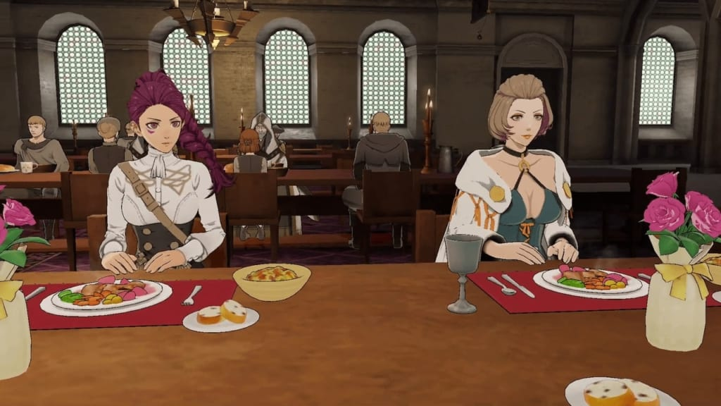 fire emblem three houses, share meals, how, support rank