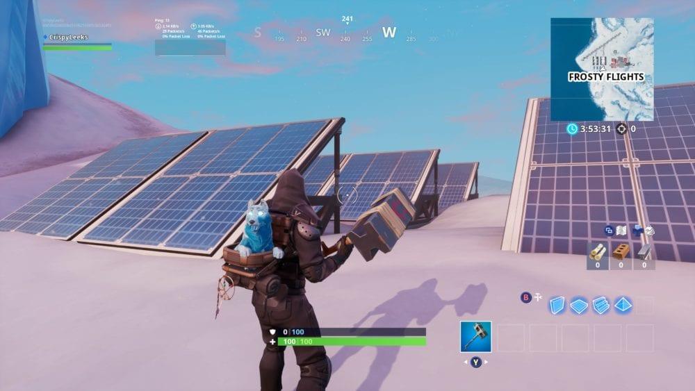 fortnite snow solar array