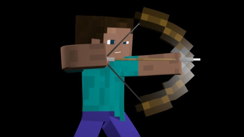 minecraft, how to repair bow