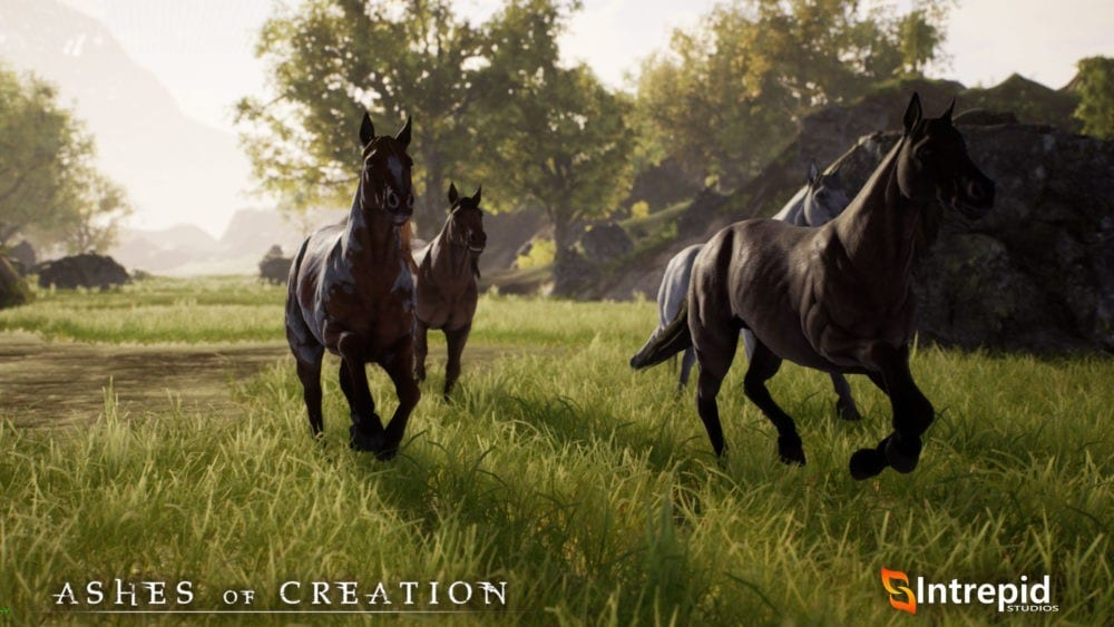 ashes of creation, horses, dev update