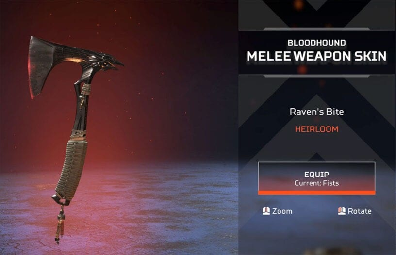 how to get bloodhound heirloom set in apex legends