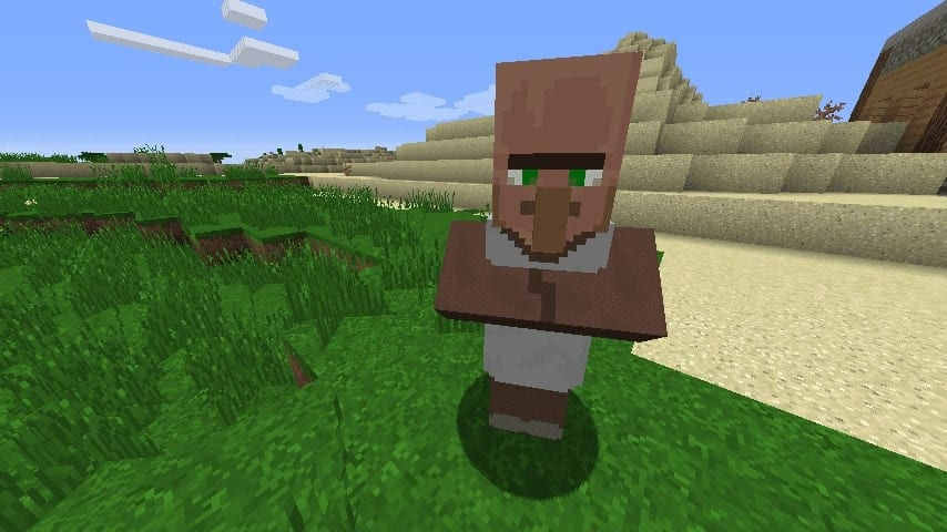 how to get villagers to follow you in minecraft