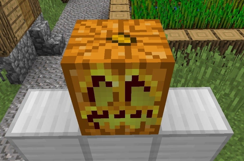 jack o lantern, minecraft