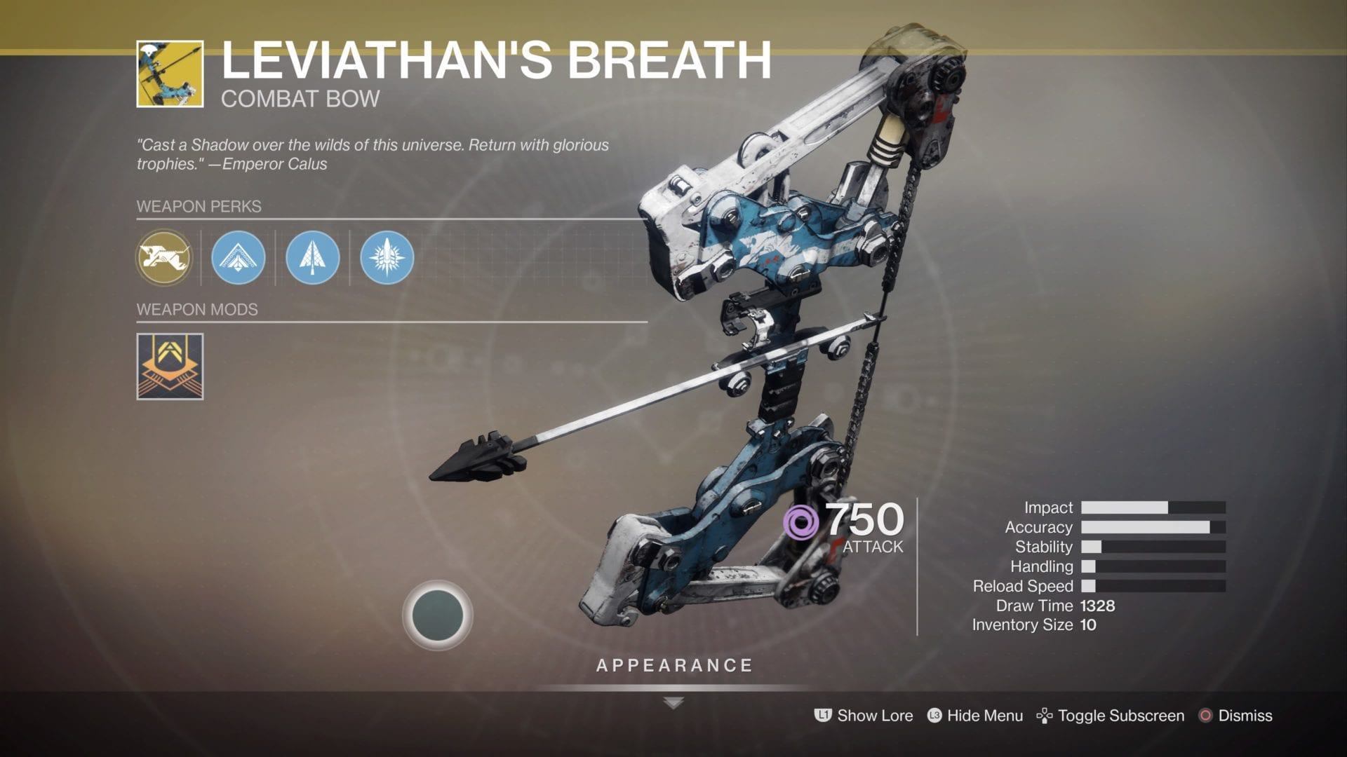 destiny 2, leviathan's breath, how to get