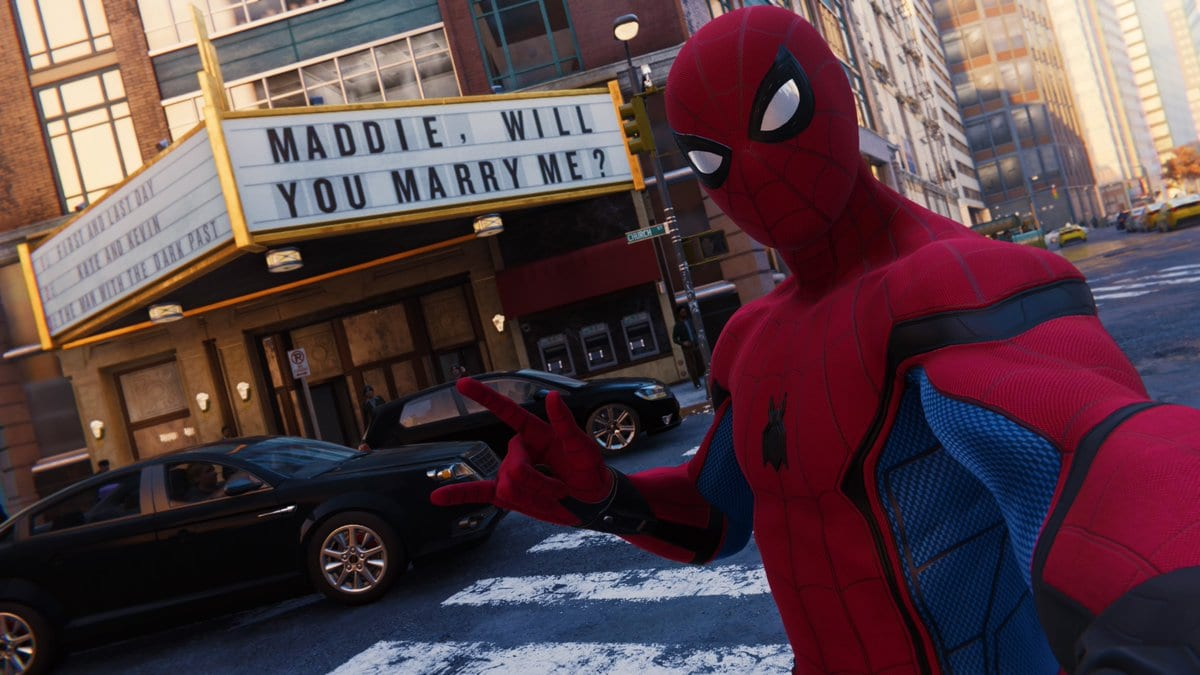 Marriage proposal Spider-Man
