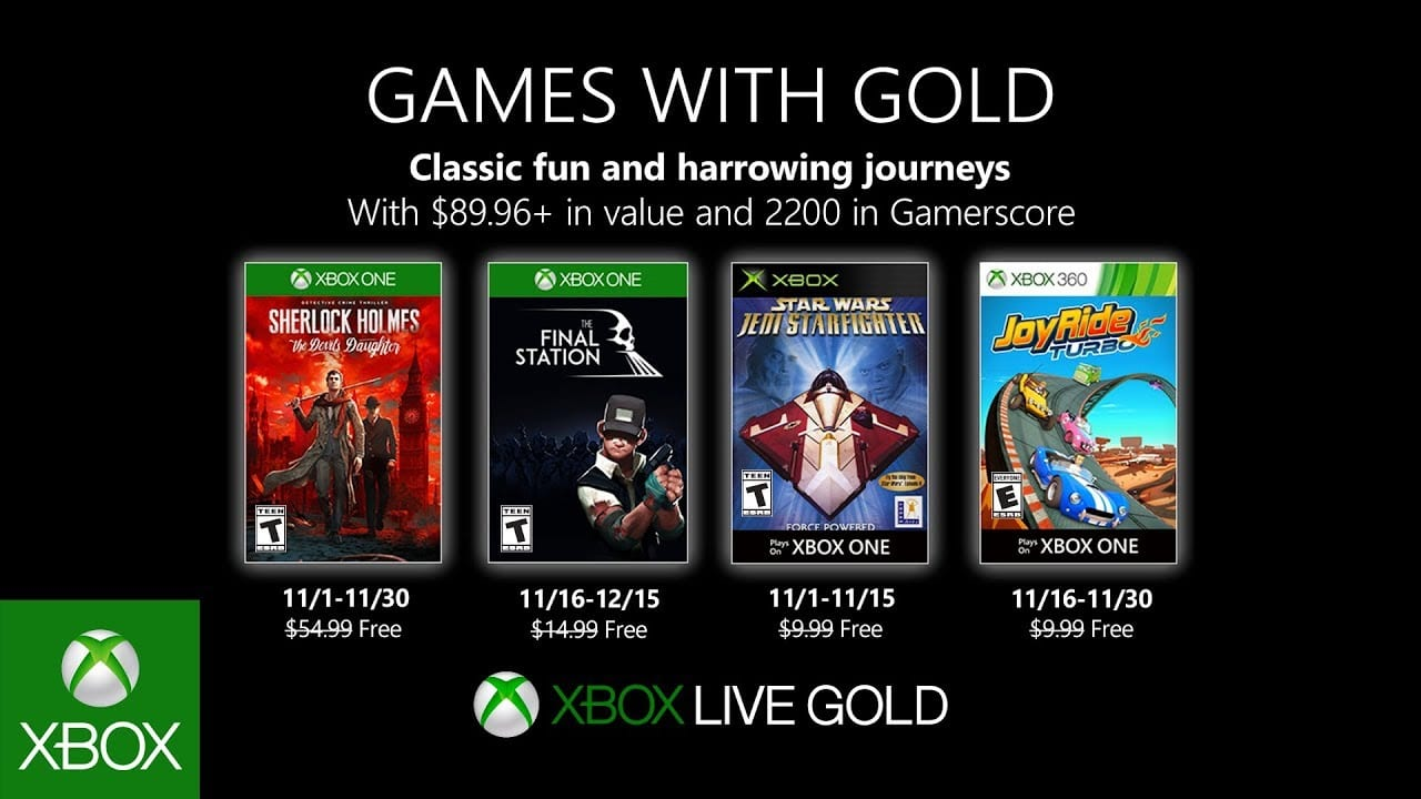 games with gold, november